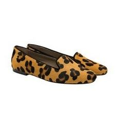 Thistle Leopard 'pony hair' cow hide Italian slipper loafers