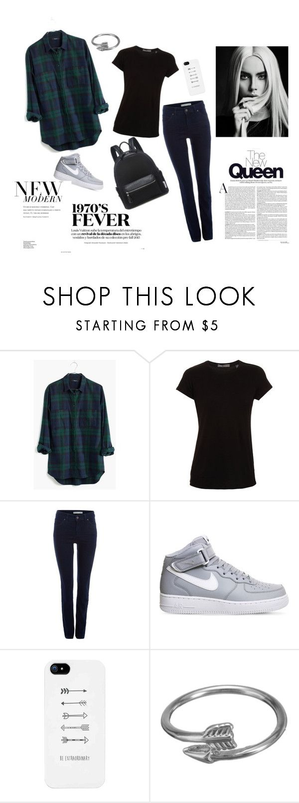 """GRUNGE II"" by barbi2003 on Polyvore featuring Madewell, Vince, Oui and NIKE"