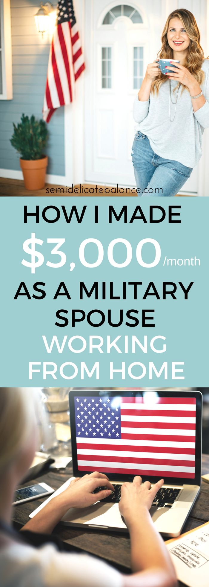 Finally, a legit way to make money working from home when you're a military spouse or stay at home mom.