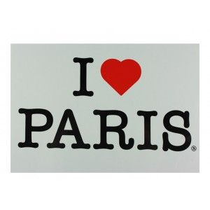 Postcard I love Paris