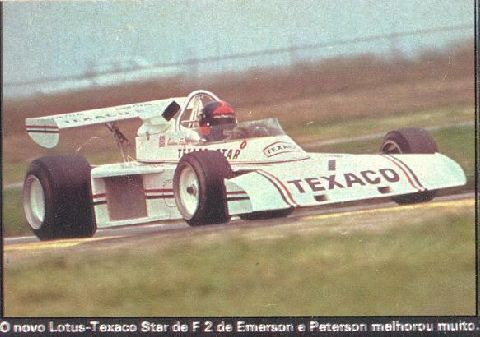 Emerson Fittipaldi - Texaco Star (Lotus 74) Ford BDA/Lotus Novamotor - Texaco Team Lotus - I Coppa di Santamonica 1973 - Non champsionship race