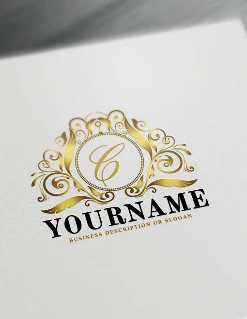 Free Royalty Logo Creator Letters Logo Maker #logomaker