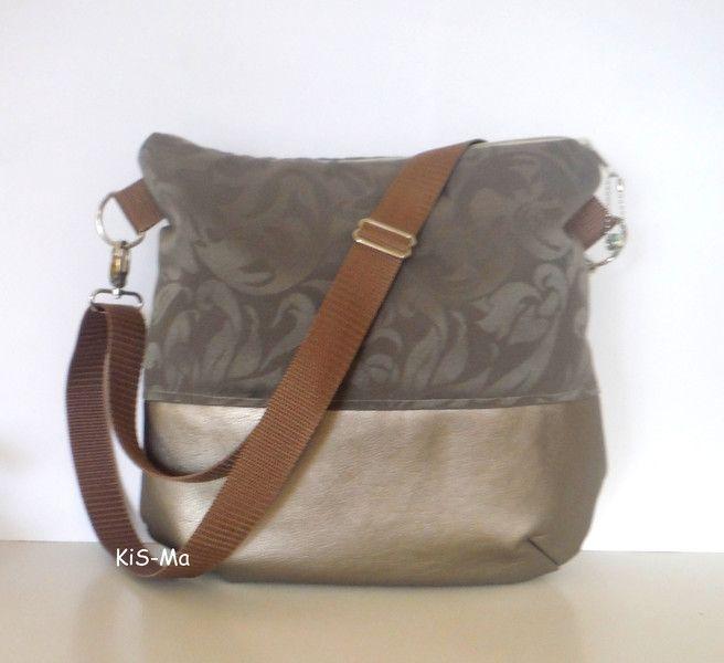Schultertaschen - Tasche Beutel Kunstleder Jacquard - ein Designerstück von KiS-Ma bei DaWanda