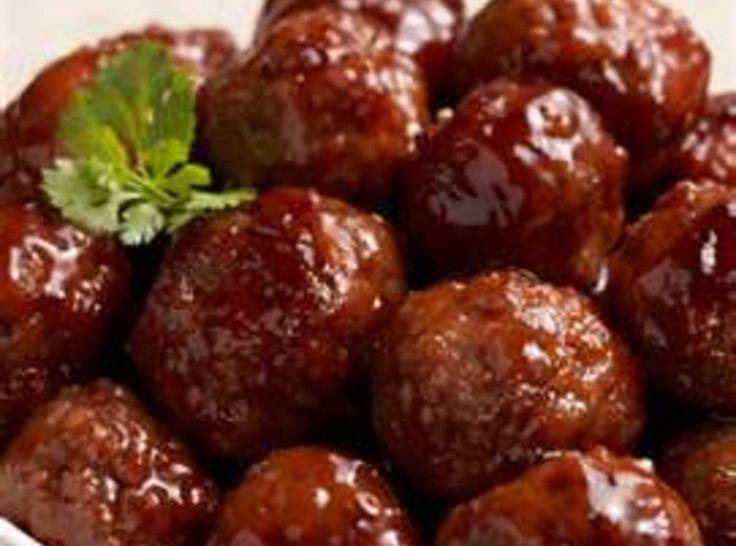 Best Old-Fashioned Cocktail Meatballs | Finger foods | Pinterest