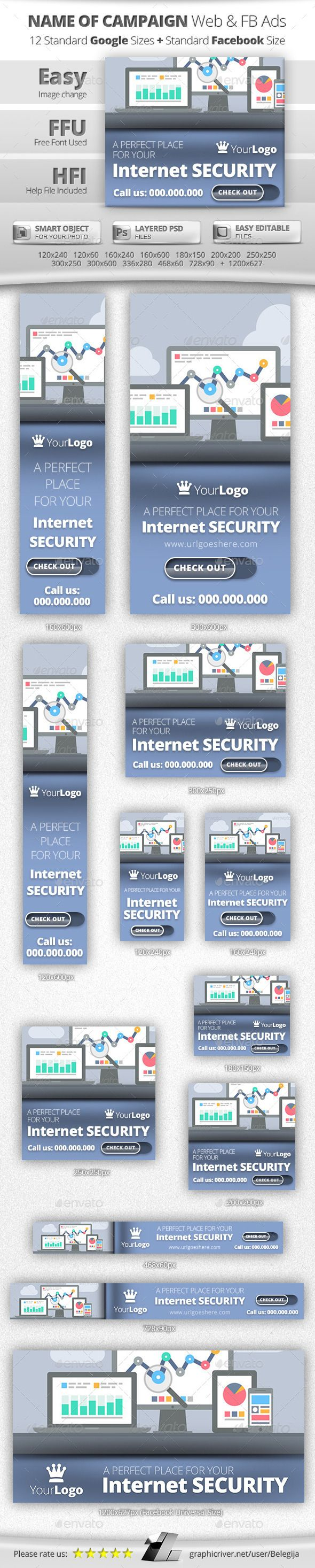 Internet Security Web & FB Banners