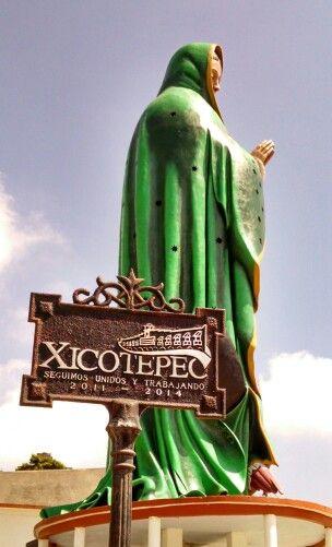 25 metros.  La Virgen de Guadalupe más alta del mundo.