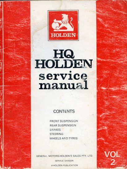 HQ Holden Service Manual - Volume 2