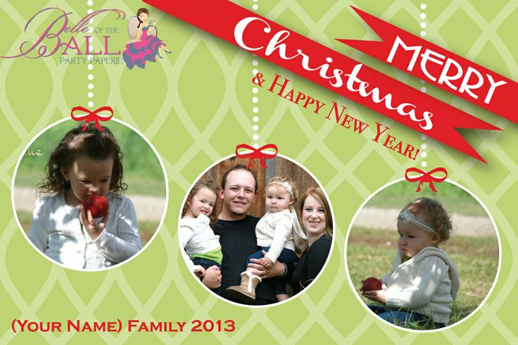 Family Photo Christmas Cards $15/20 http://belleoftheballpartypaperie.weebly.com/signature-collection.html