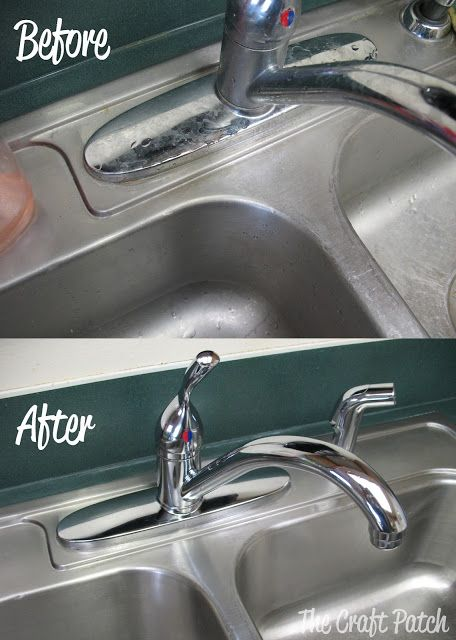 Stainless Steel Sink Cleaner - Makes your kitchen sink look like new! I need to do this on my sink!