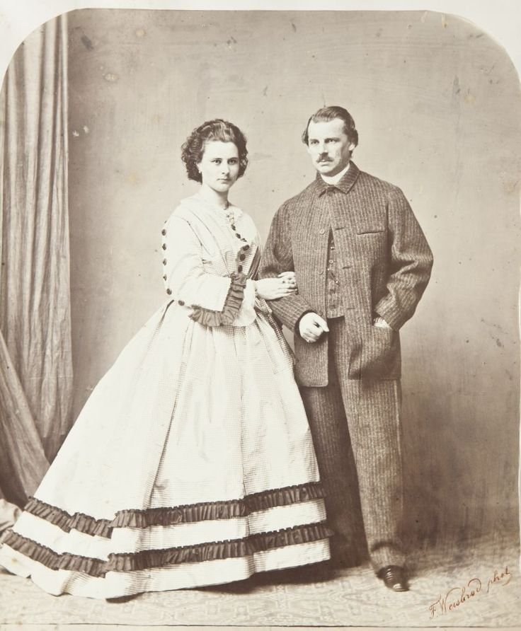 Herzog Max in Bayern (Empress Elisabeth's father) with an unknown lady.  (It has been speculated that she may be a mistress or an illegitimate daughter.)