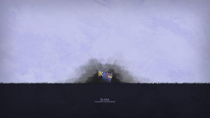 Minimal Slark Wallpaper, more: http://dota2walls.com/slark/minimal-slark