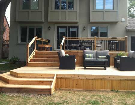 How To Design A Deck For The Backyard how to build a floating deck Multi Level Decks Design And Ideas