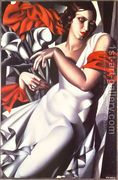 Portrait of Ira P, 1930  by Tamara de Lempicka (inspired by)