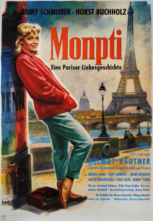 German poster for MONPTI (Helmut Käutner, West Germany, 1957) Artist: Otto Assmann Poster source: Kinoart.net