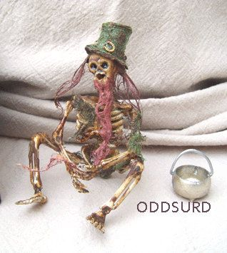 Dead Fairy LEPRECHAUN Sideshow Gaff Curiosity Oddity St Patricks Day Irish Folklore Dead Doll Goth Horror on Etsy, $38.00