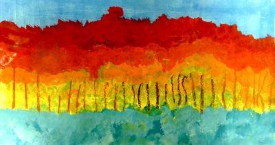 tekenles warme kleuren herfstbos
