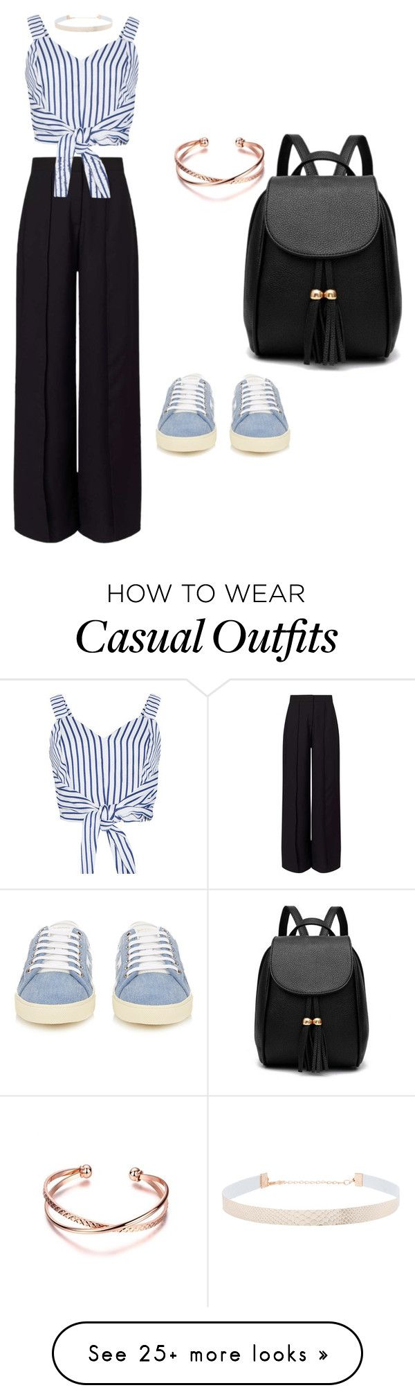 """Casual"" by emma-jovicevic on Polyvore featuring Miss Selfridge, WithChic, Yves Saint Laurent and Eloquii"
