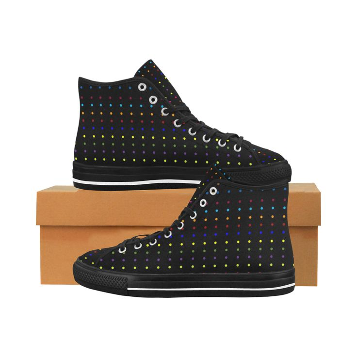 Dots & Colors Modern, Colorful pattern design Vancouver H Men's Canvas Shoes by Scar Design. #shoes #style #fashion #sneakers #modern #art #online #shopping #39 #geometric #family #giftsforhim #giftsforher #womensshoew #mensshoes #kidsshoes #boots #scardesign #artsadd #cheapshoes #gothic #skull #plaid #plaidshoes #gifts #pattern #dots #pop #popart #popculture