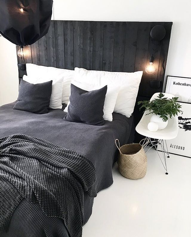 Black And White Cozy Design Bedroom