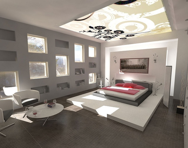 White Scheme Best Color To Paint A Interior Room For Bedroom Decorating With Beautiful Floral Pattern Ceiling Style Complete The Lighting Also Modern