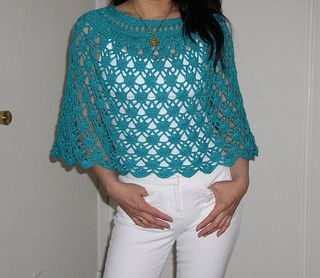 Crochet Elegant Lace Poncho - Free Pattern