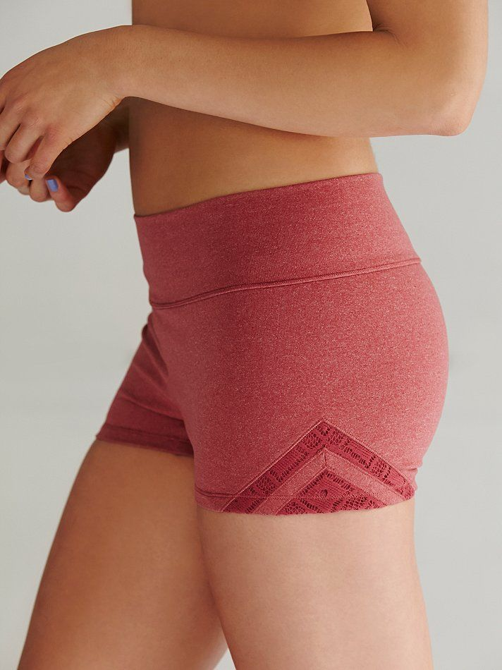 Free People Geo Insert Yoga Shorts