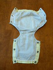 Rare Vintage Carter's Baby Infant Plastic Pants Panties Diaper Cover Side Snaps