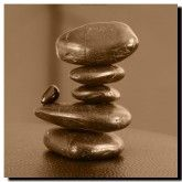 Balance, Sepia art on canvas from http://www.thecanvasartfactory ships worldwide!  #art #stones #spirituality #calm #peace #focus #photography #home #decor #wallart