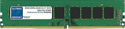 8GB DDR4 2400MHz PC4-19200 288-PIN ECC UDIMM MEMORY RAM FOR SERVERS/WORKSTATIONS