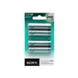Sony NHAAB4EN 2500 mAh AA Rechargeable Nimh Batteries, 4-pack (Electronics)By Sony