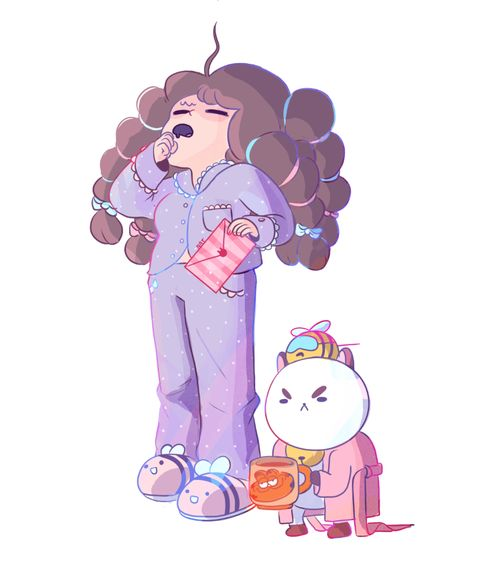 Support the bee and puppycat kickstarter - http://www.kickstarter.com/projects/frederator/bee-and-puppycat-the-series (art by Natazilla)