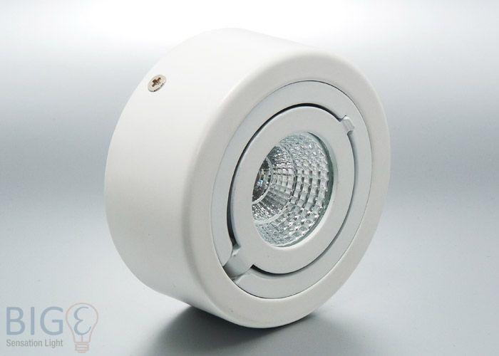 led aufbaustrahler rund cob schwenkbar 6 watt ersetzt 50 watt halogen und wird direkt auf decke. Black Bedroom Furniture Sets. Home Design Ideas
