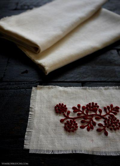 mimosa embroidery by yumiko higuchi