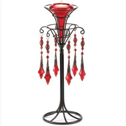 RED VICTORIAN CANDLEHOLDER : Pagan Store, Wiccan Store, Witchcraft Store, An online Pagan, Wiccan and Witchcraft store