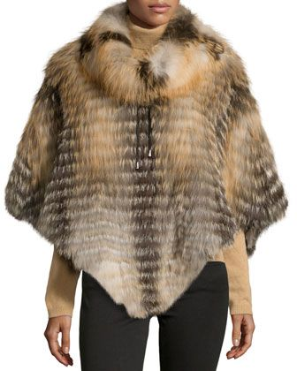 Layered Cowl-Neck Fur Poncho, Cross by Gorski at Neiman Marcus Last Call.