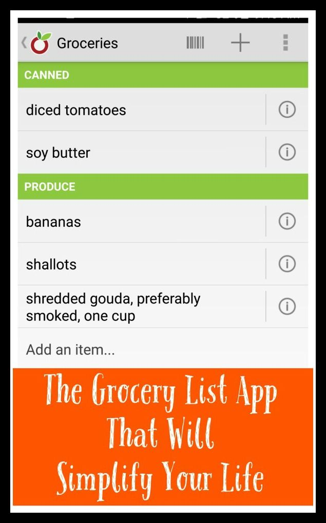 The 25+ best Grocery list app ideas on Pinterest | Grocery ...