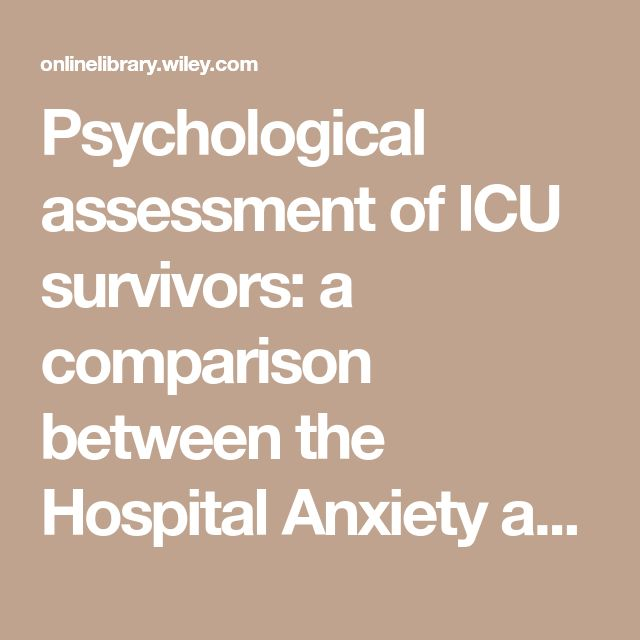 Psychological assessment of ICU survivors: a comparison between the Hospital Anxiety and Depression scale and the Depression, Anxiety and Stress scale