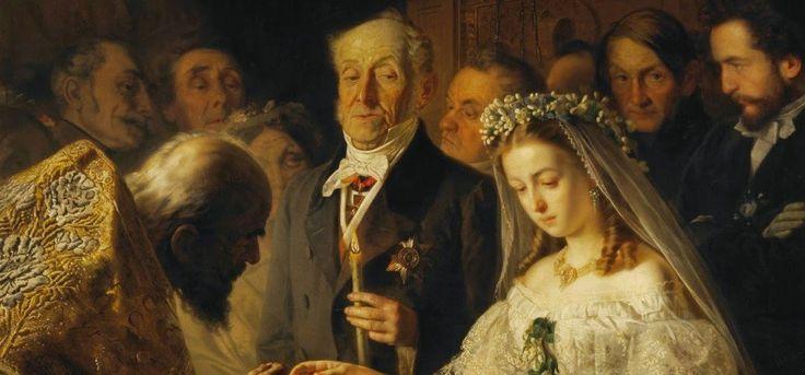Картина «Неравный брак» Василия Пукирева так и не разгадана до конца. Анализируя ее, мы вступаем на зыбкую почву догадок. Кто эта девушка? Что за мрачный