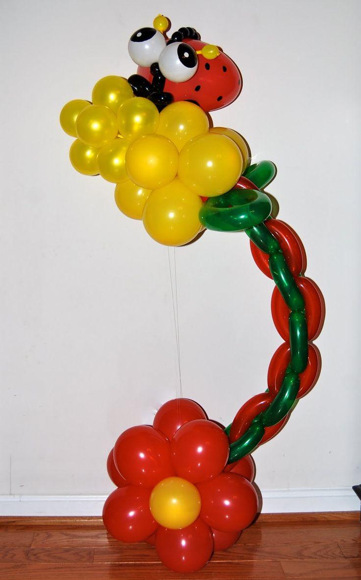 Ballon+Art. | Ladybug Balloon Art | Balloon Decor-Twisting & Glitter Tattoos