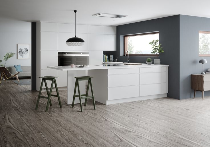 Mano by Kvik. The best though-out handless kitchen concept in the world? Nearly an infinite number of modules to make the most of any room and renovation project. 120 cm draws for long vertical lines and best use of space. Visit Kvik today...
