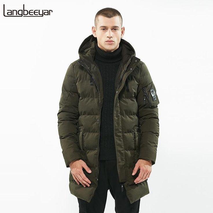 New Fashion Clothing Parka Men Youth Long Mens Winter Jackets High-quality Windb