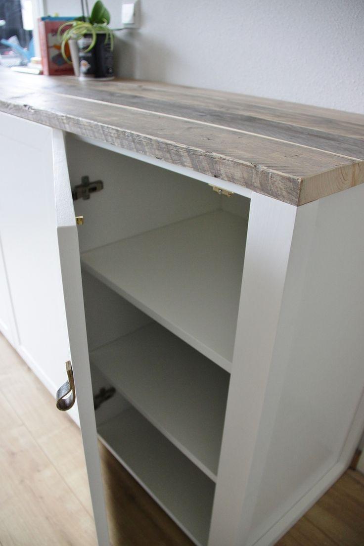 Dresser - weathered pinewood/pinewood/mdf Dressoir - steigerhout/vuren/mdf