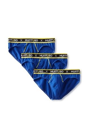 Hurmoso Men's East Village Hip Brief-3 Pack