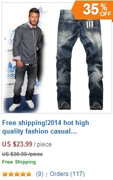 Free shipping!2014 hot high quality fashion casual men's jeans famous brand.  #jeans #men jeans