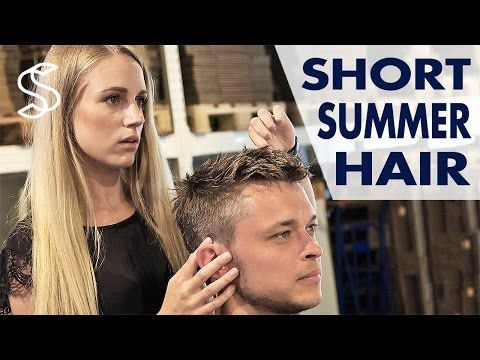 Men's short hairstyle ★ Professional haircutting ★ How to style men's hair - YouTube
