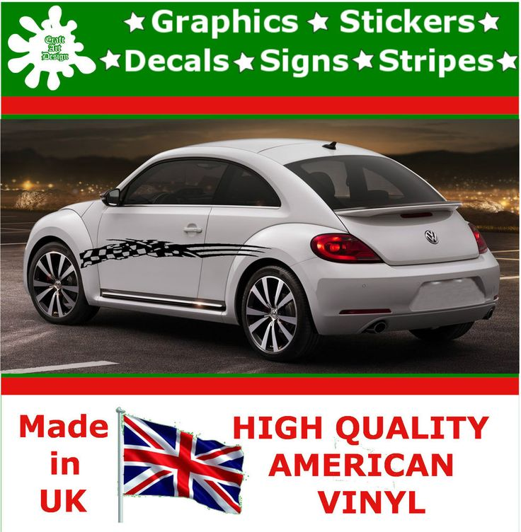 """10"""" High Car Side Stripes Graphic Decal Vinyl Stickers Van Auto Rally Race F1_86"""