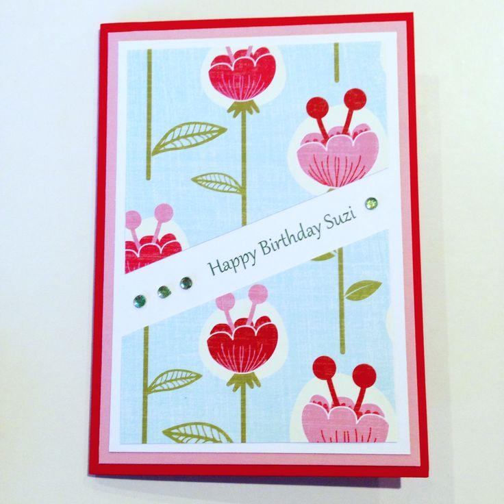Custom made birthday card made by Pammypumpkin's handmade cards!
