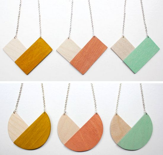 Creative Colorblocking (Jewelry) | papernstitch. Make with felt?