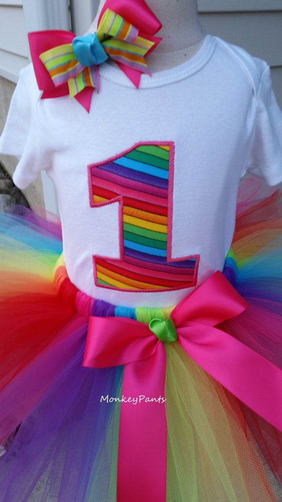 Hey, I found this really awesome Etsy listing at https://www.etsy.com/listing/271516561/1st-birthday-rainbow-tutu-outfit-baby