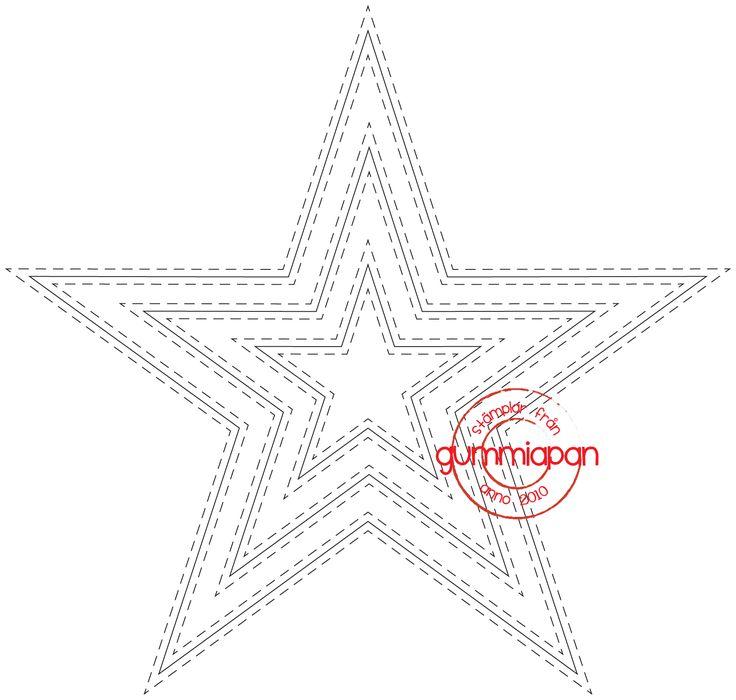 Gummiapan die D170737 Stjerne dubbelstygn